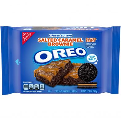 OREO Salted Caramel Brownie Flavored Creme Chocolate Sandwich Cookies