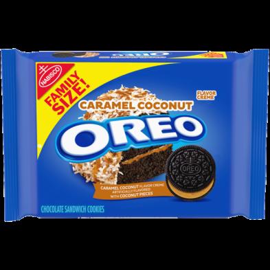 OREO Caramel Coconut Flavored Creme Chocolate Sandwich Cookies
