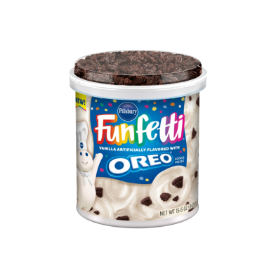 Funfetti® Vanilla Frosting with OREO® Cookie Pieces