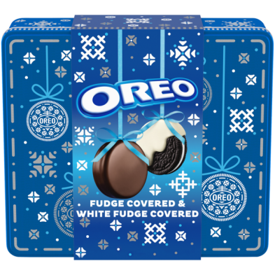 Oreo Fudge Covered Holiday Tin