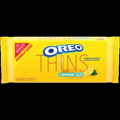 OREO Thins Golden Sandwich Cookies lemon creme
