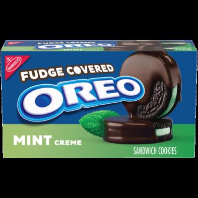 OREO Fudge Covered Mint Creme Sandwich Cookies