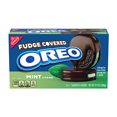 OREO Fudge Covered Mint Creme Sandwich Cookies