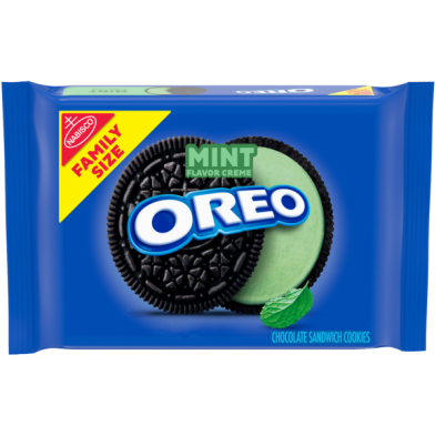 OREO Mint Flavored Creme Chocolate Sandwich Cookies
