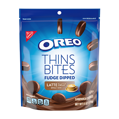 OREO Thins Bites Fudge Dipped Sandwich Cookies