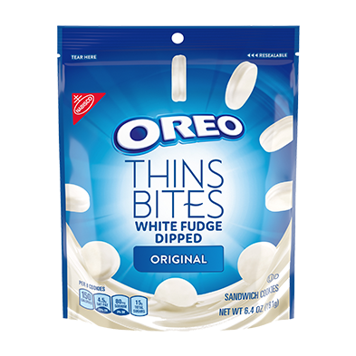 OREO Thins Bites White Fudge Dipped Chocolate Sandwich Cookies