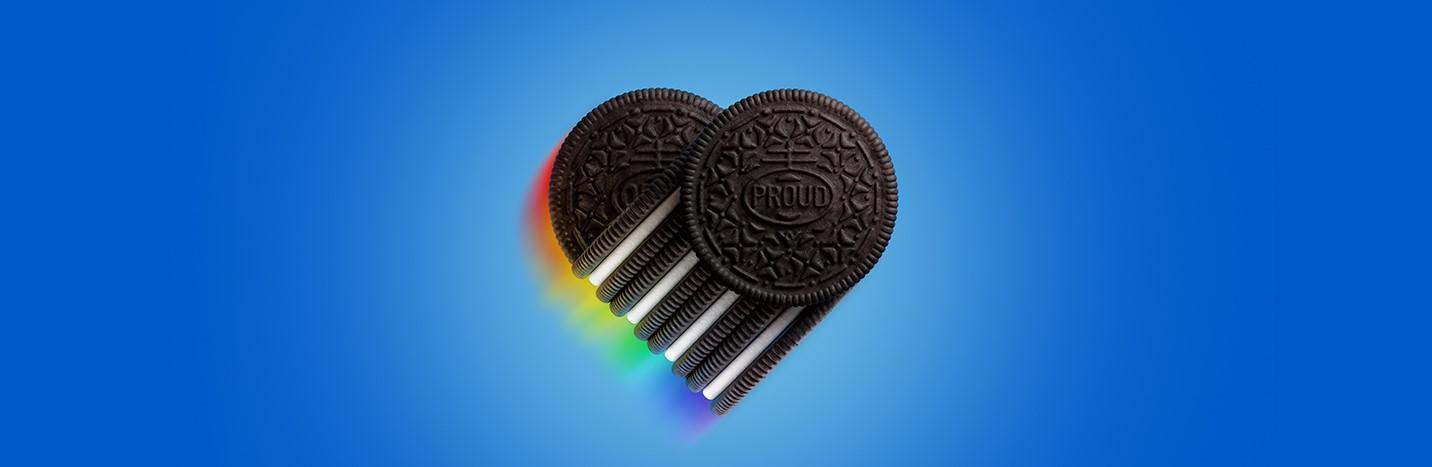 OREO Pride Cookie Heart